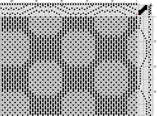 Circles Scarf Weave Draft