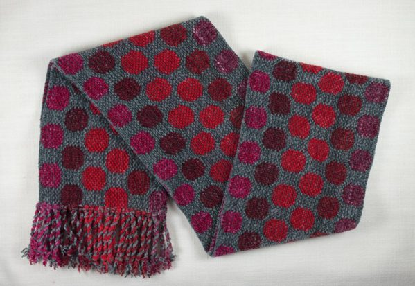 Red and Gray Dots Scarf 01 copy