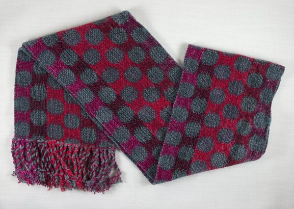 Red and Gray Dots Scarf 02 copy