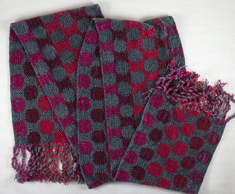 Red and Gray Dots Scarf 03 copy
