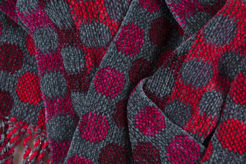 Red and Gray Dots Scarf 04 copy