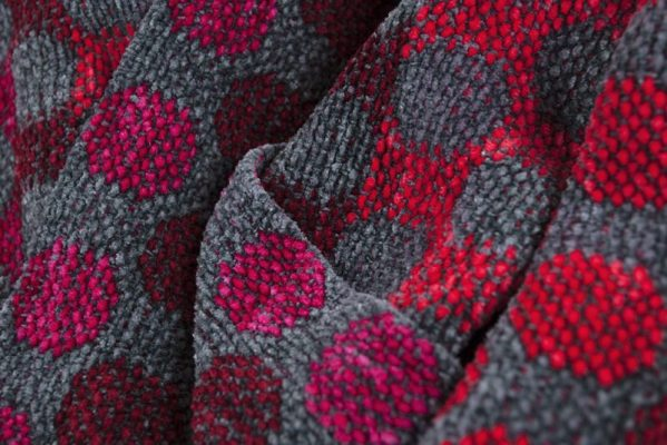 Red and Gray Dots Scarf 05 copy