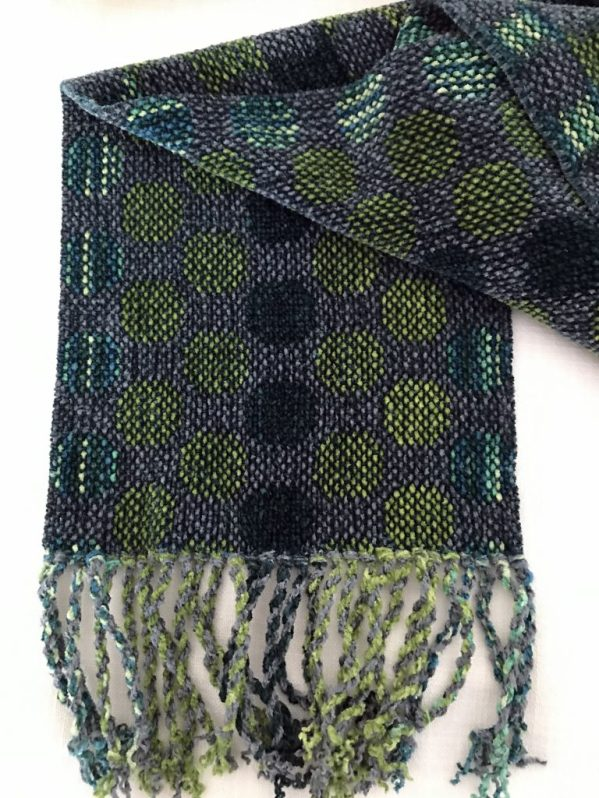 Greens Circles Scarf 2